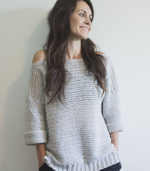 Free Crochet Pattern For The Homebody Sweater Easy Comfy And Cute