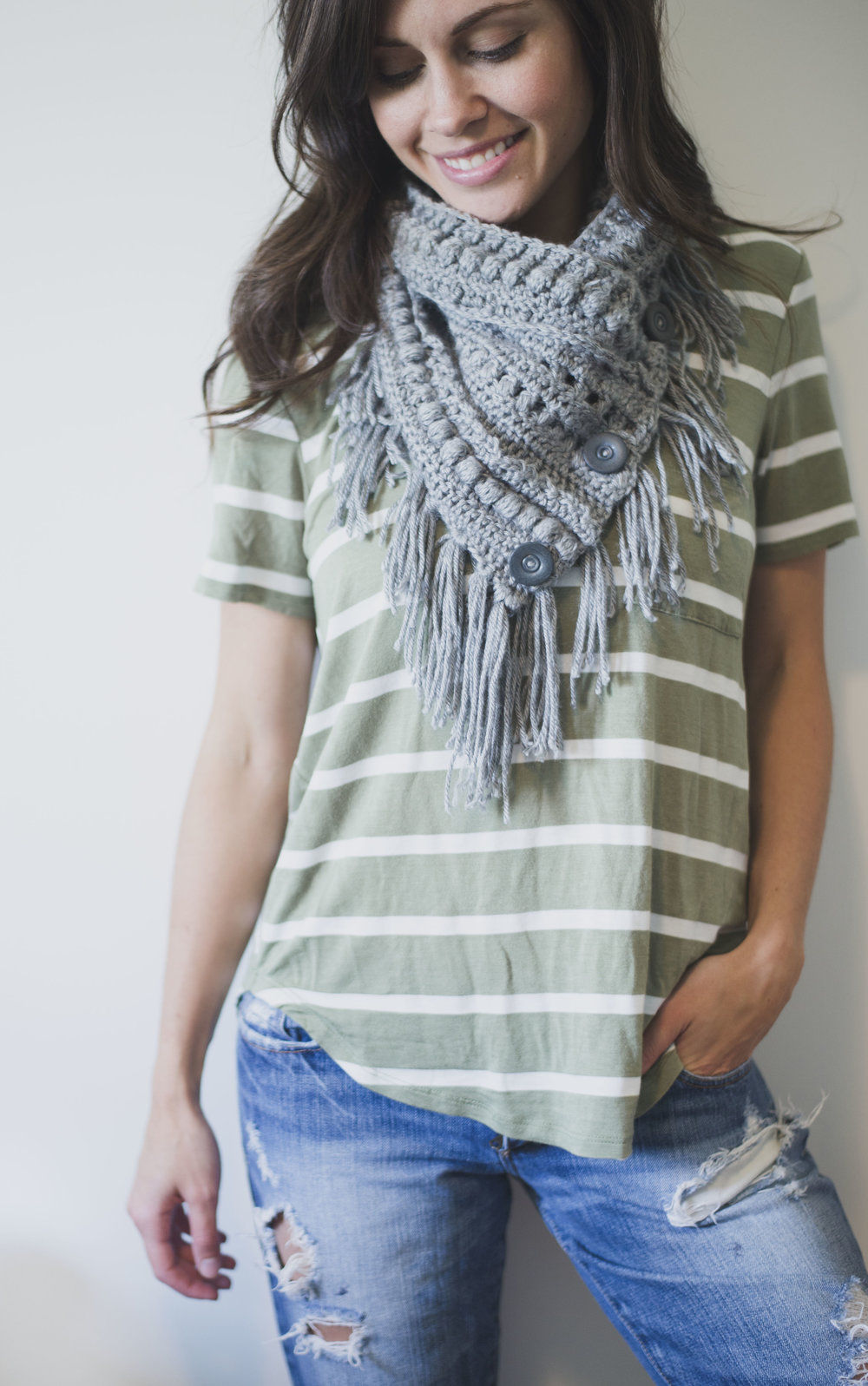 Free Crochet Pattern for the Textured Boho Cowl — Megmade with Love