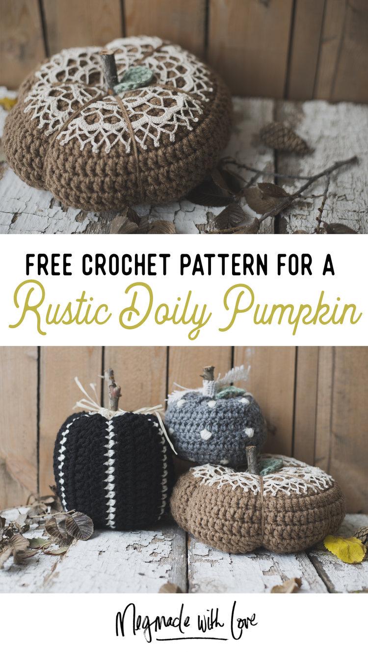 Free Pattern For The Rustic Doily Pumpkin Rustic Elegant Pumpkin
