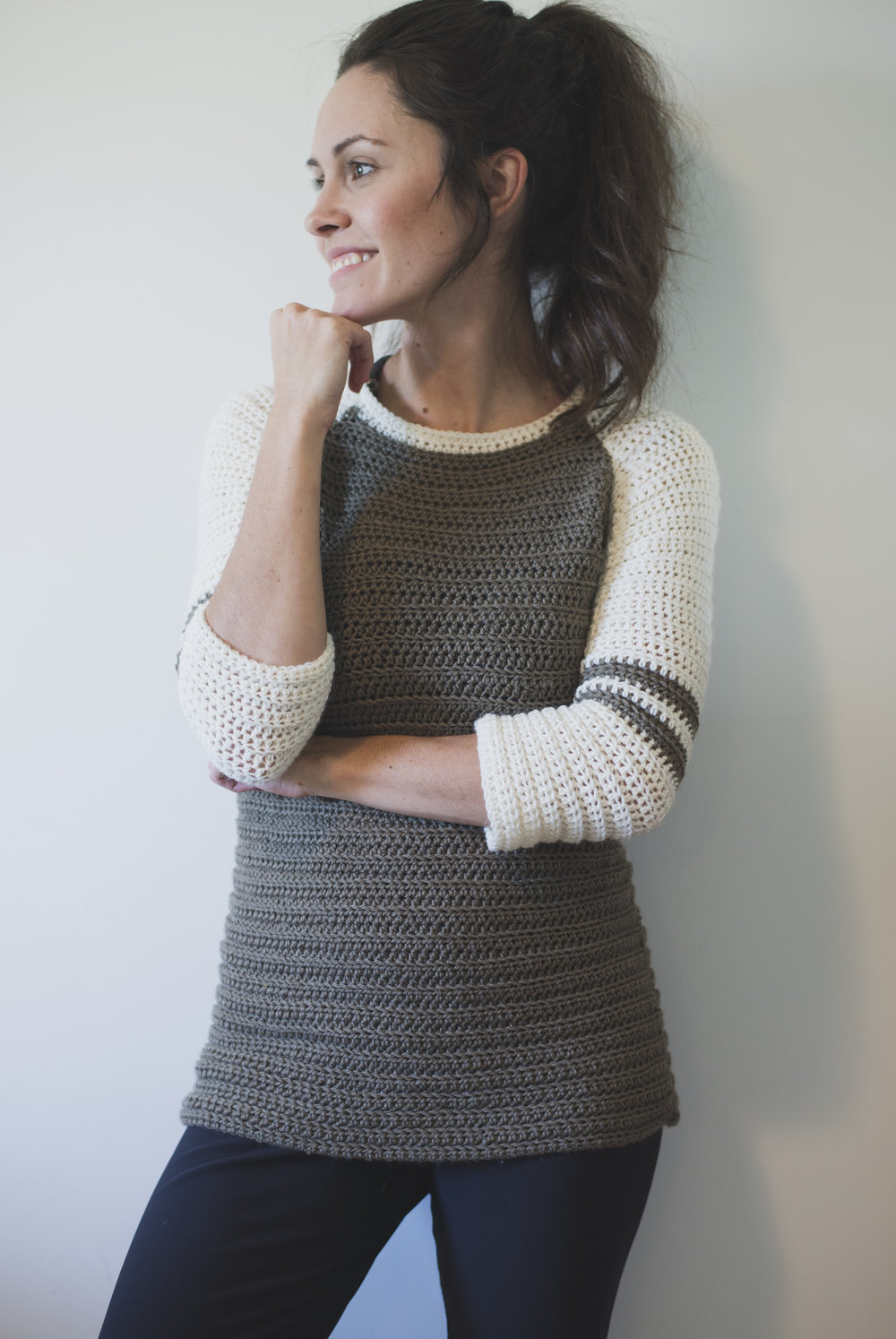 New Free Crochet Pattern for the Varsity Sweater! — Megmade with Love