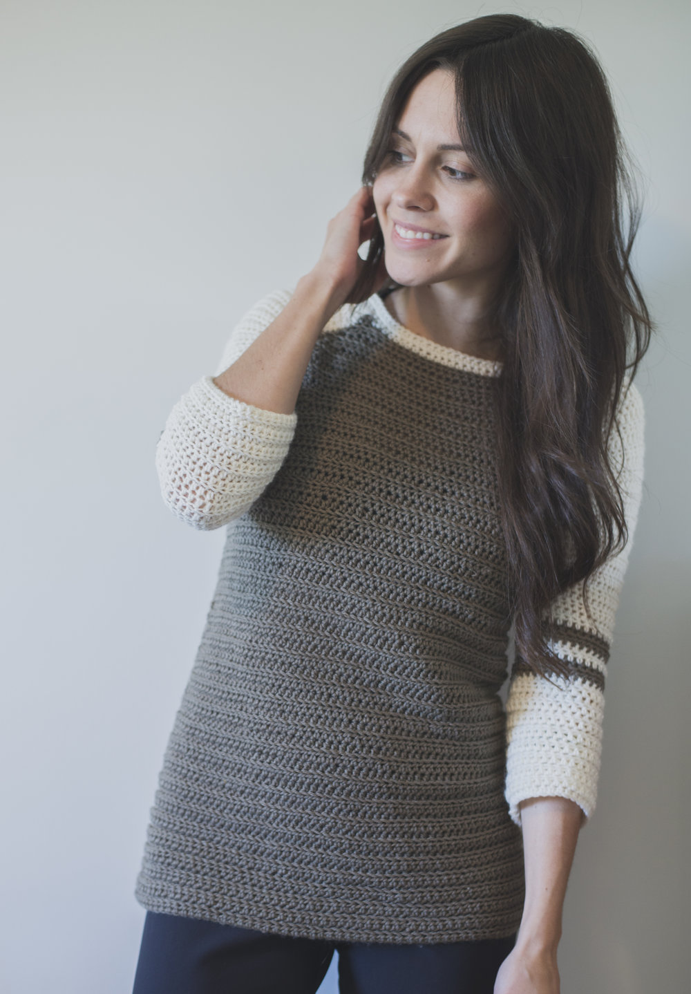 5d7ac910aa0a New Free Crochet Pattern for the Varsity Sweater! — Megmade with Love