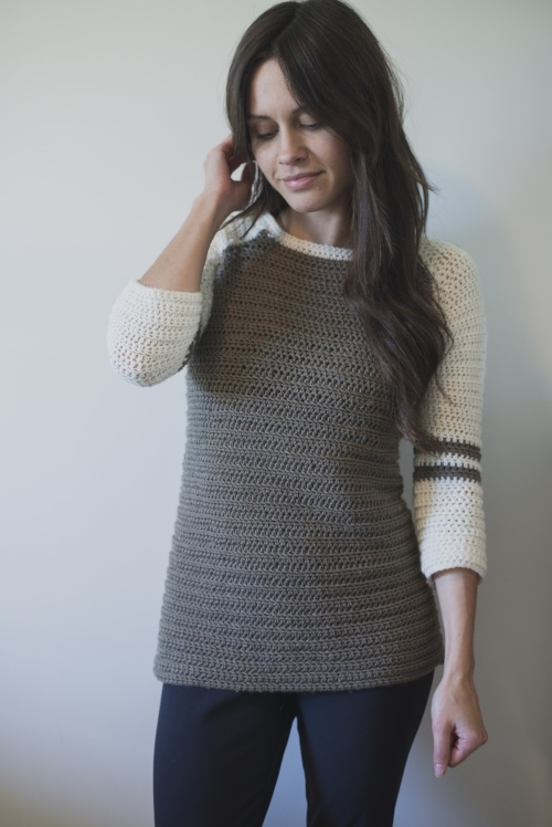 New Free Crochet Pattern For The Varsity Sweater Megmade With Love