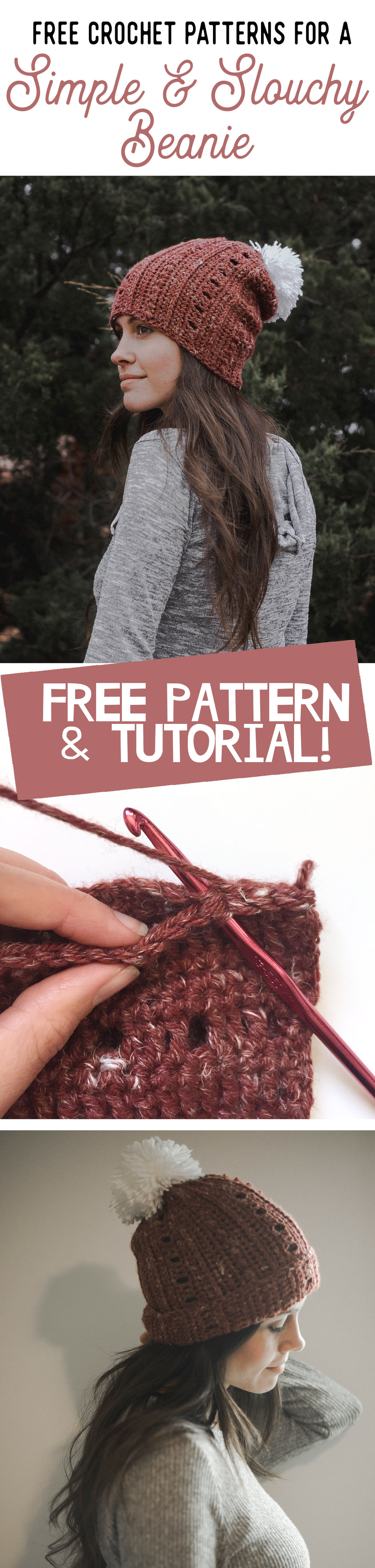 Free Crochet Pattern for a Super Simple   Slouchy Beanie — Megmade ... 6bd9551dada