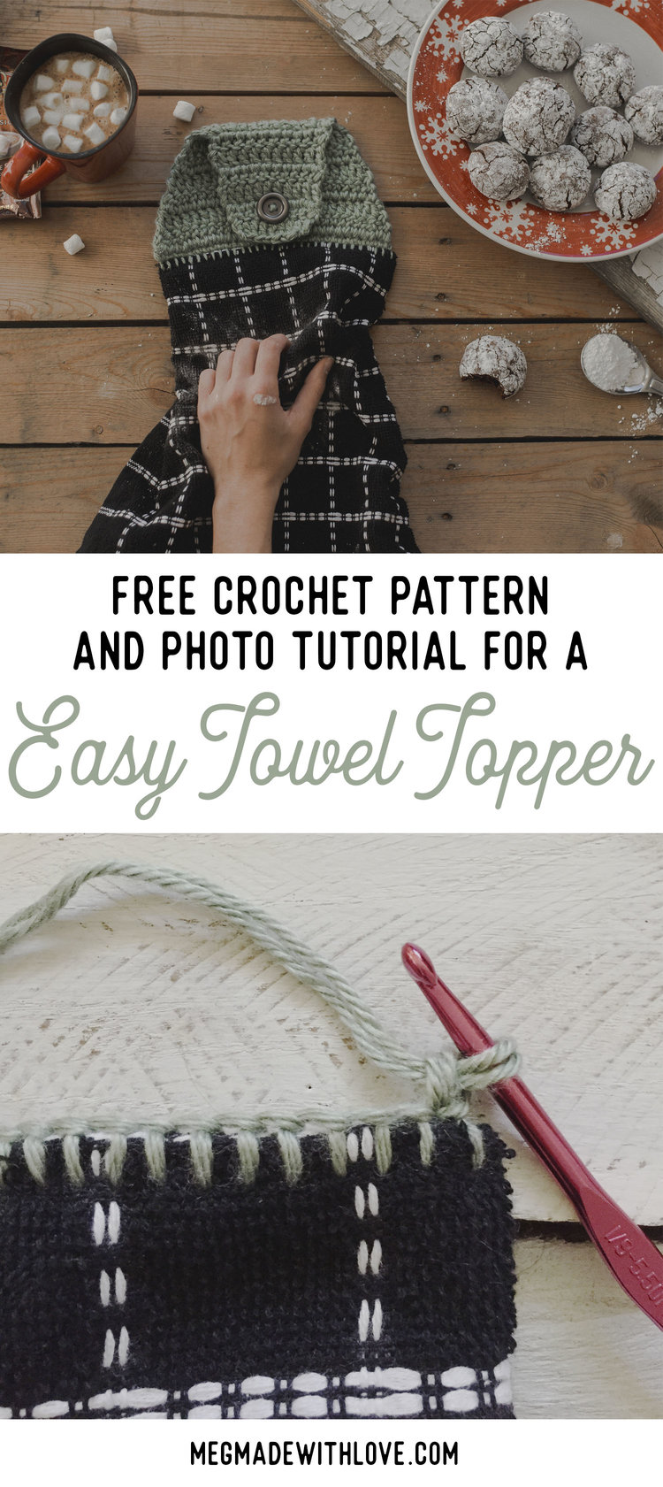 New Free Crochet Pattern for an Easy Towel Topper — Megmade with Love