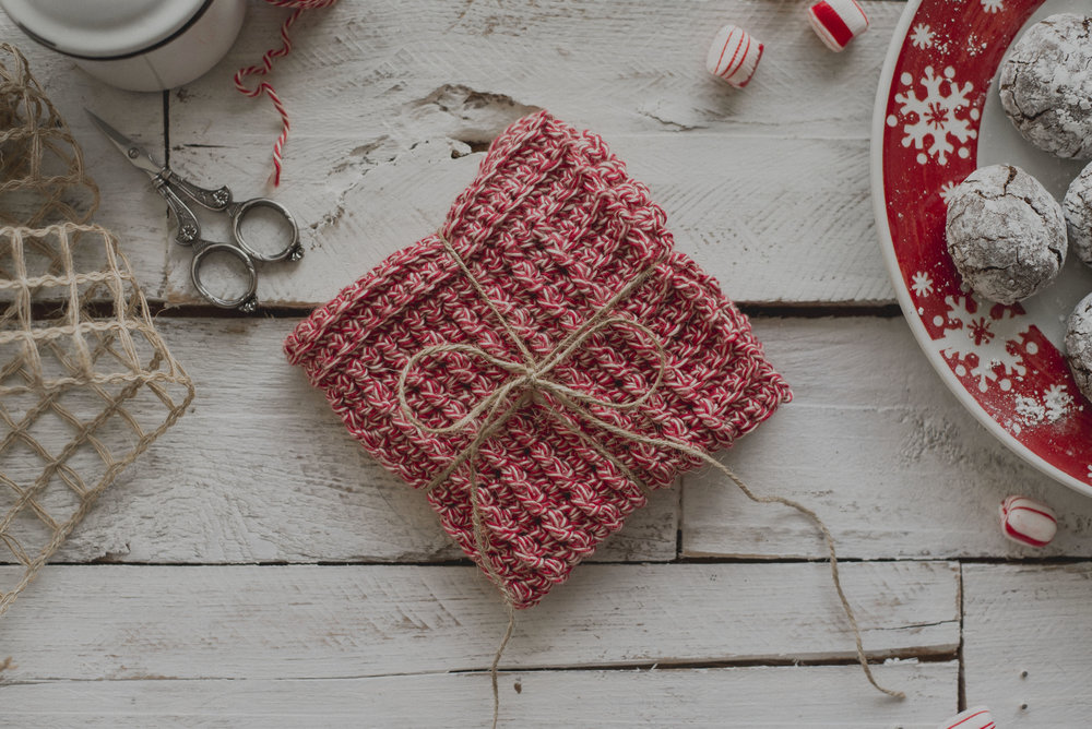 Free Crochet Pattern For The Peppermint Washcloth Megmade With Love