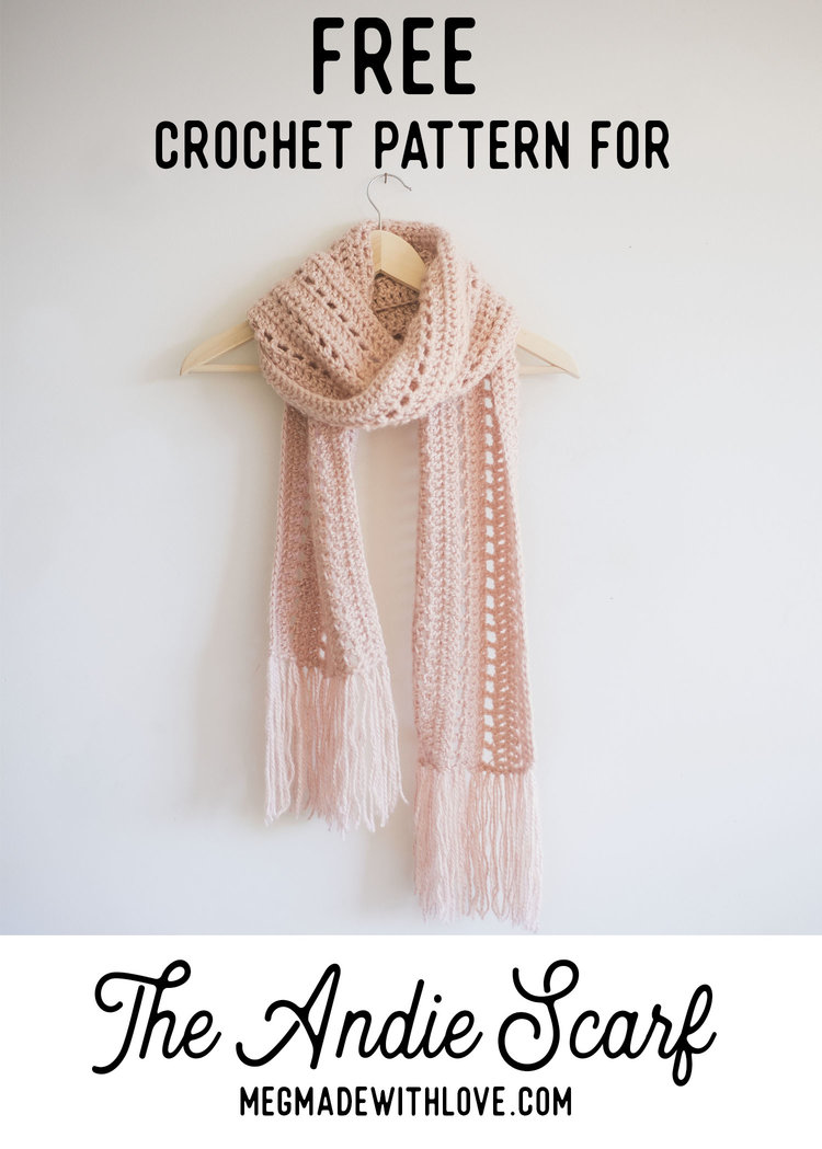 Free Crochet Pattern for The Andie Scarf — Megmade with Love