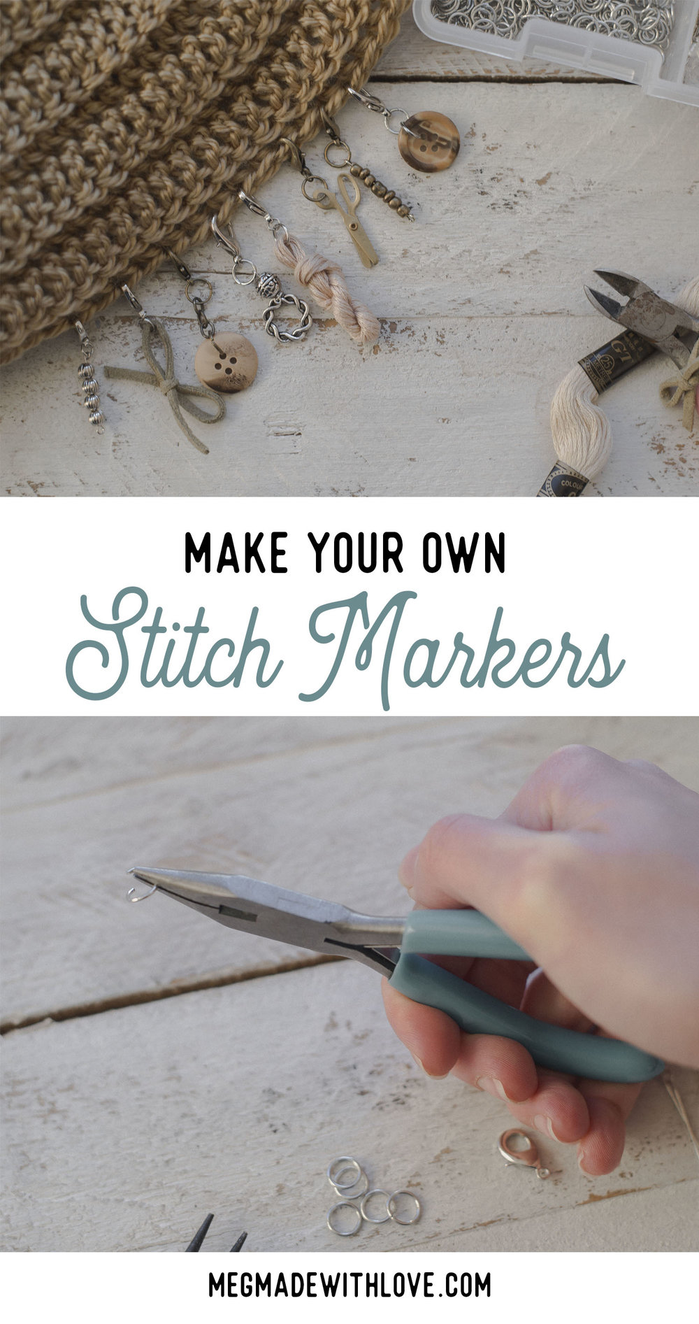 How to Make Your Own Stitch Markers - Megmade with Love