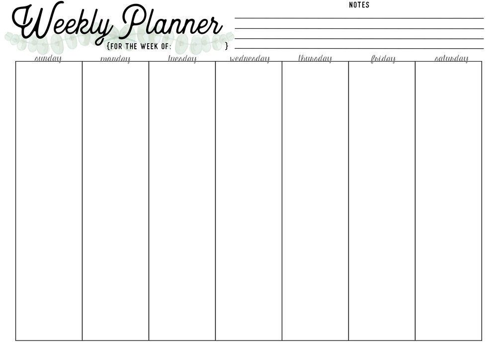 monthly day planner