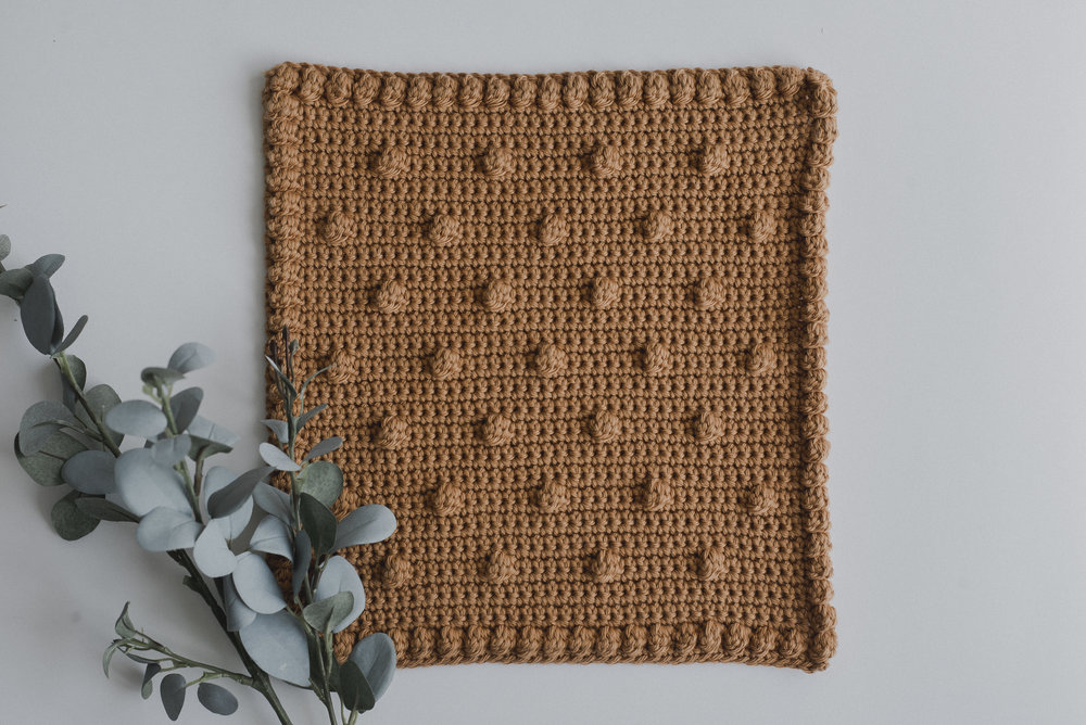 Free Crochet Pattern For A Dotted Washcloth Megmade With Love