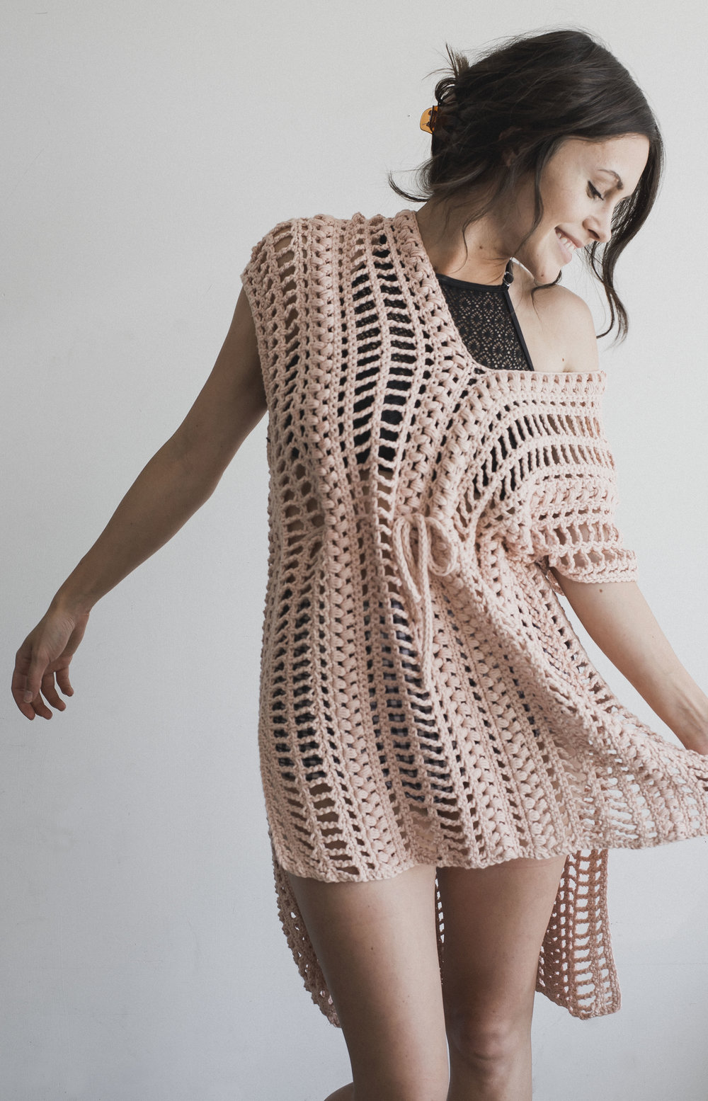 Free Crochet Pattern for the Easy Breezy Swimsuit Cover - Megmade with Love