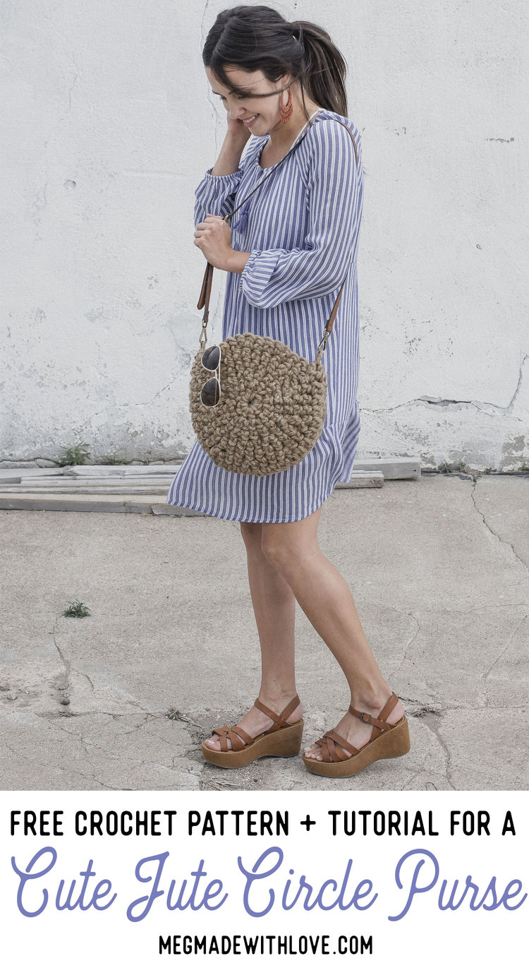 Free Crochet Pattern for The Cute Jute Circle Purse — Megmade with Love