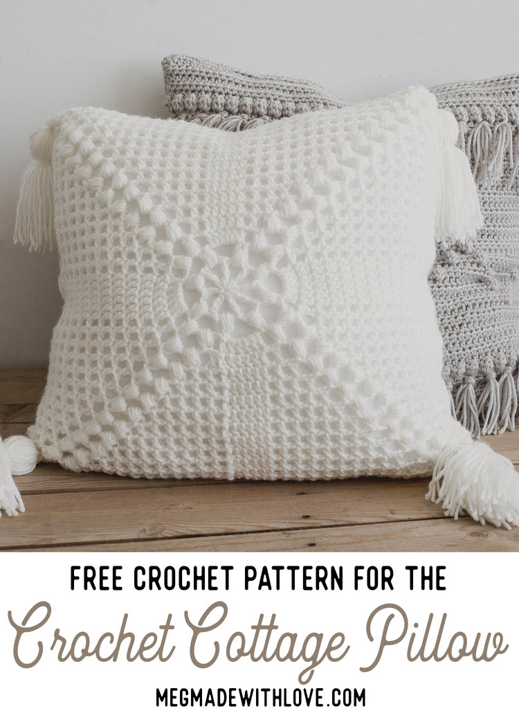 Free Pattern for the Crochet Cottage Pillow — Megmade with Love