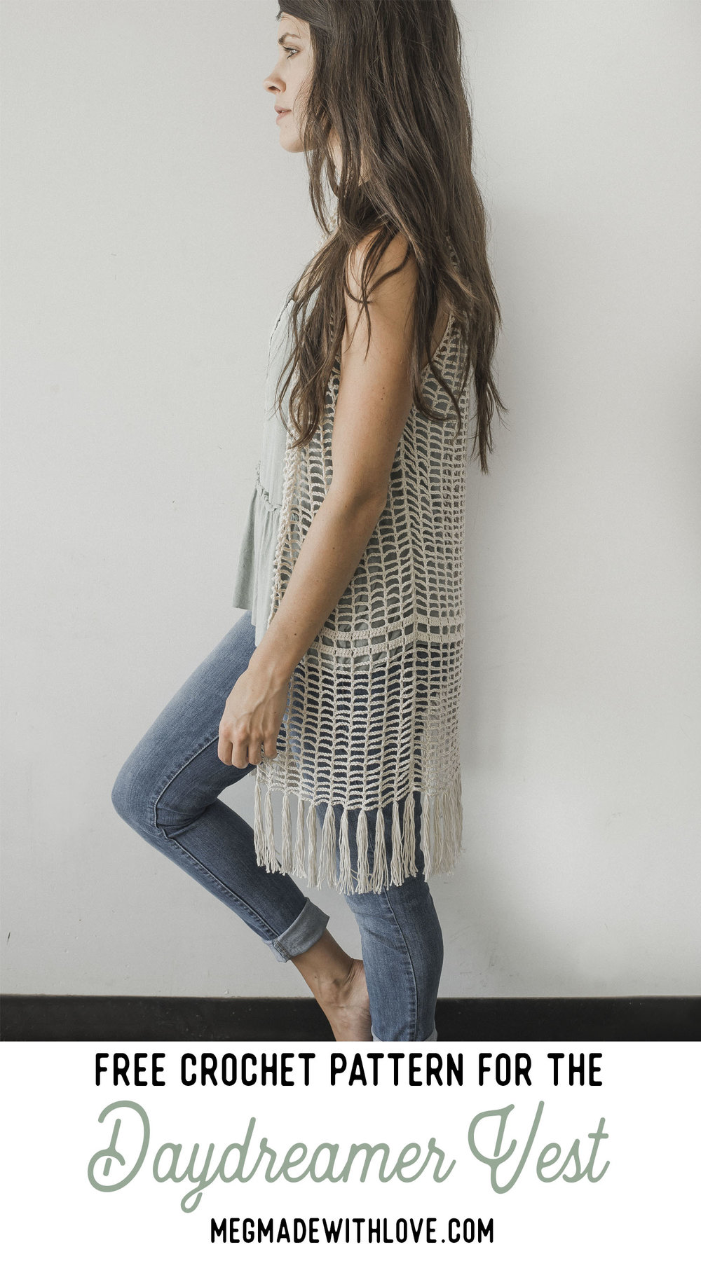 Free Crochet Pattern for the Daydreamer Crochet Vest - Megmade with Love