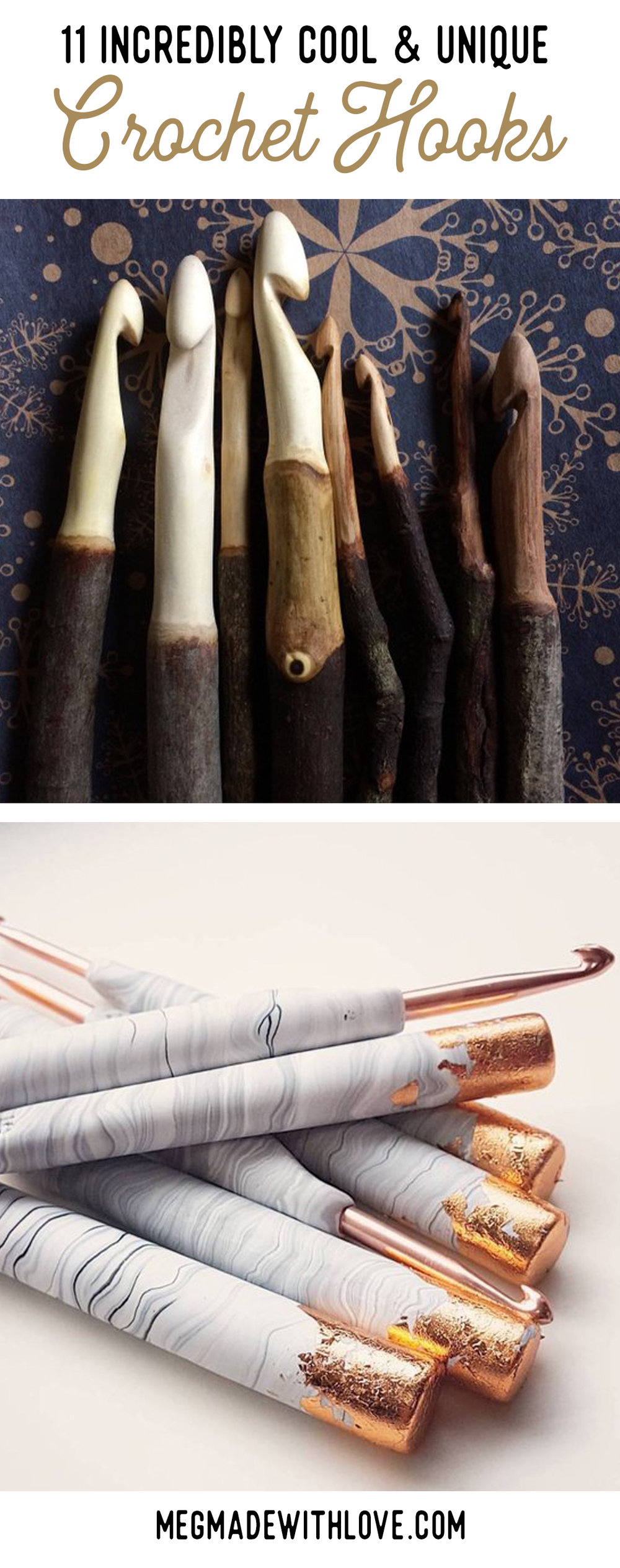 Crochet hooks - Megmade with Love