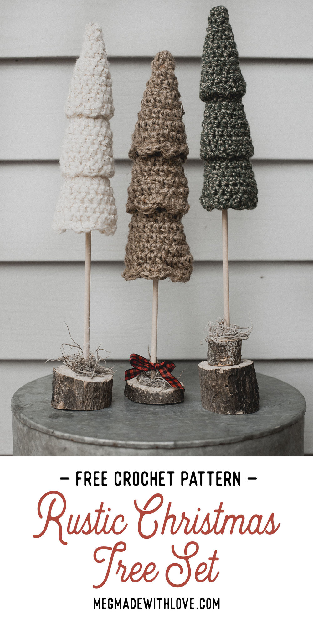 Crochet Pattern - Rustic Christmas Tree - Megmade with Love