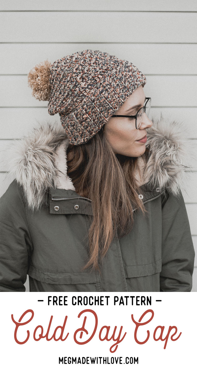 Free Crochet Pattern For The Cold Day Cap Megmade With Love