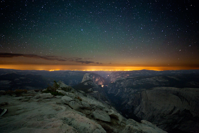Half Dome after dark viewed from Clouds Rest
