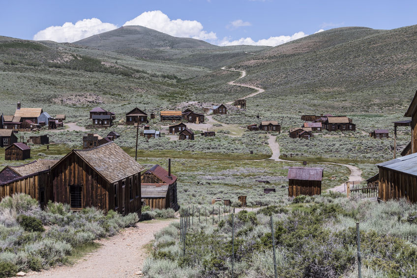 Bodie offers many abandoned buildings and machinery