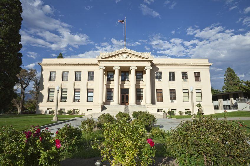 The Inyo County Courthouse was built in 1921