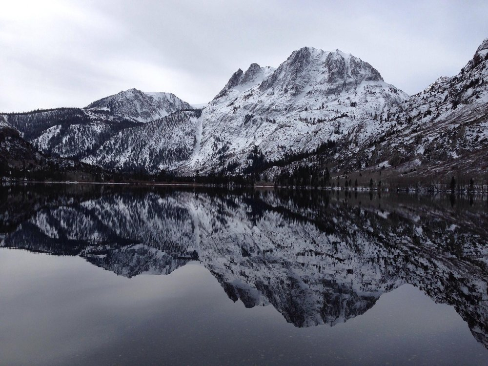 Silver Lake lies beneath Carson Peak