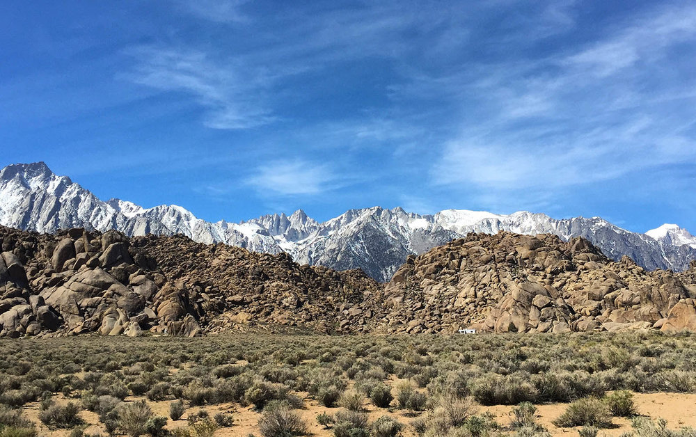Mt. Whitney viewed from Alabama Hills Recreation Area