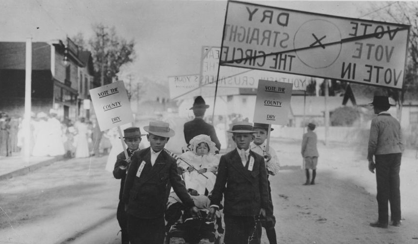 Pro-prohibition parade in Bishop, 1910 ( http://www.inyocounty.us/ecmsite/ )