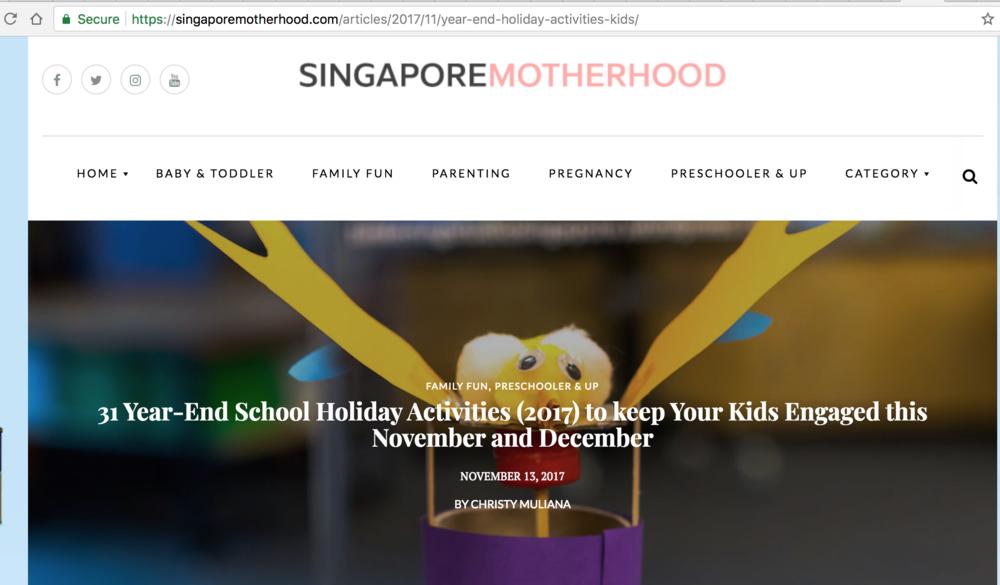15 November 2017, Singapore mother hood
