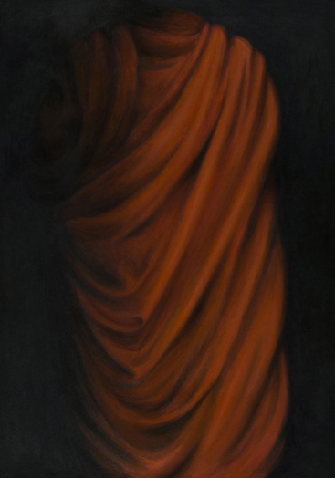 "Buddhist Habit, Laos  48"" x 36"" oil/canvas 2012"