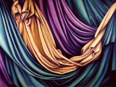 "Drapery IV  54"" x 72"" oil/canvas 1989-2007"