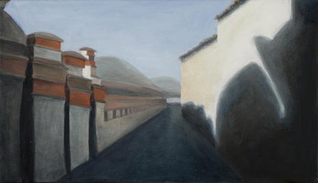 "Kagbeni Passageway  8"" x 14"" oil/canvas 2009"