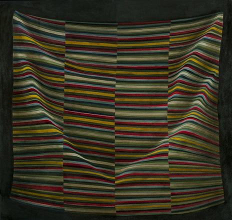 "Importing Wisdom: Tibetan Bangdian IV  36"" x 38"" oil/canvas   2011"
