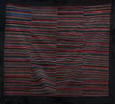 "Importing Wisdom: Tibetan Bangdian III  36"" x 40"" oil/canvas  2009"