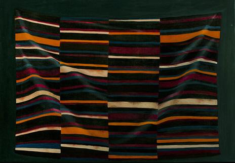 "Importing Wisdom: Tibetan Bangdian II 36"" x 52"" oil/canvas  2010"