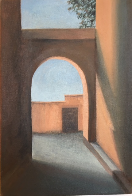 "Fes Passageway I, Morocco, 12"" x 8"", 2017"