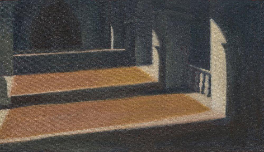 "Shadow Study III, Rome, 8"" x 14"", 2016"