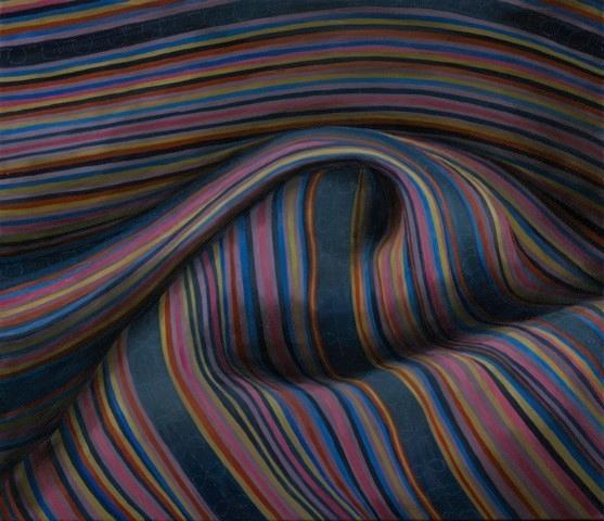 "Hmong Textile I  24"" x 48"" oil/canvas  2015"