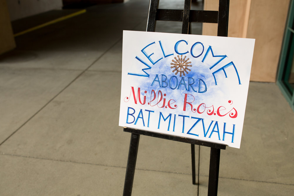 Millie Rose's Nautical Bat Mitzvah
