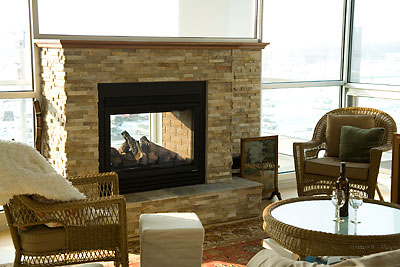City Loft Fireplace — Grand Homes & Renovations