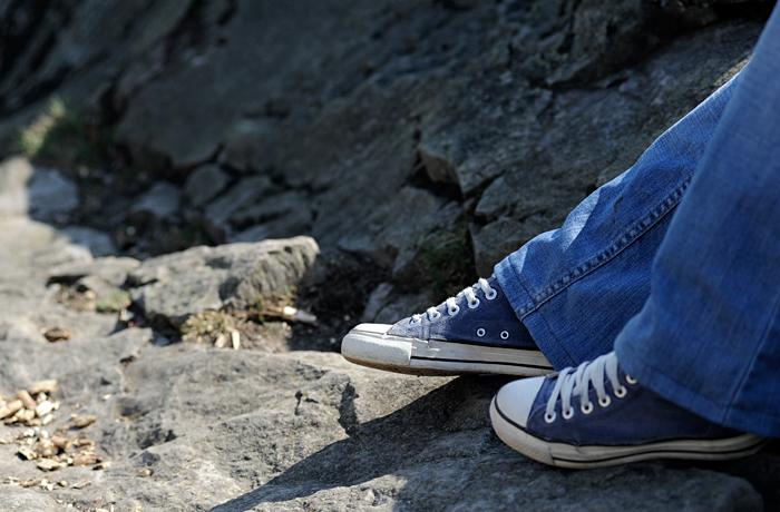 Chucks on the rocks