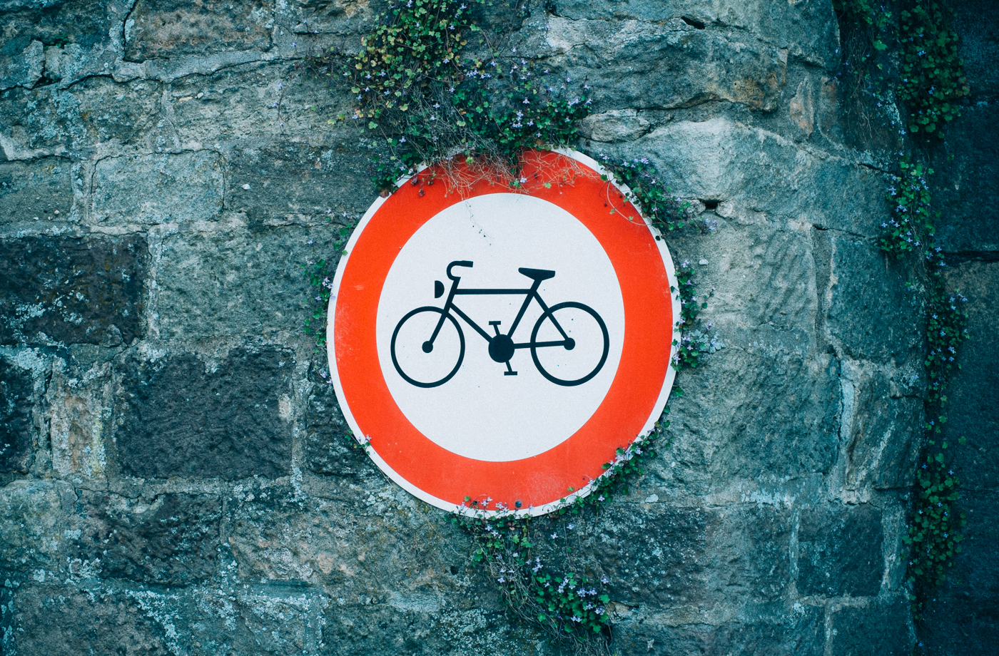 Bicycles not permitted