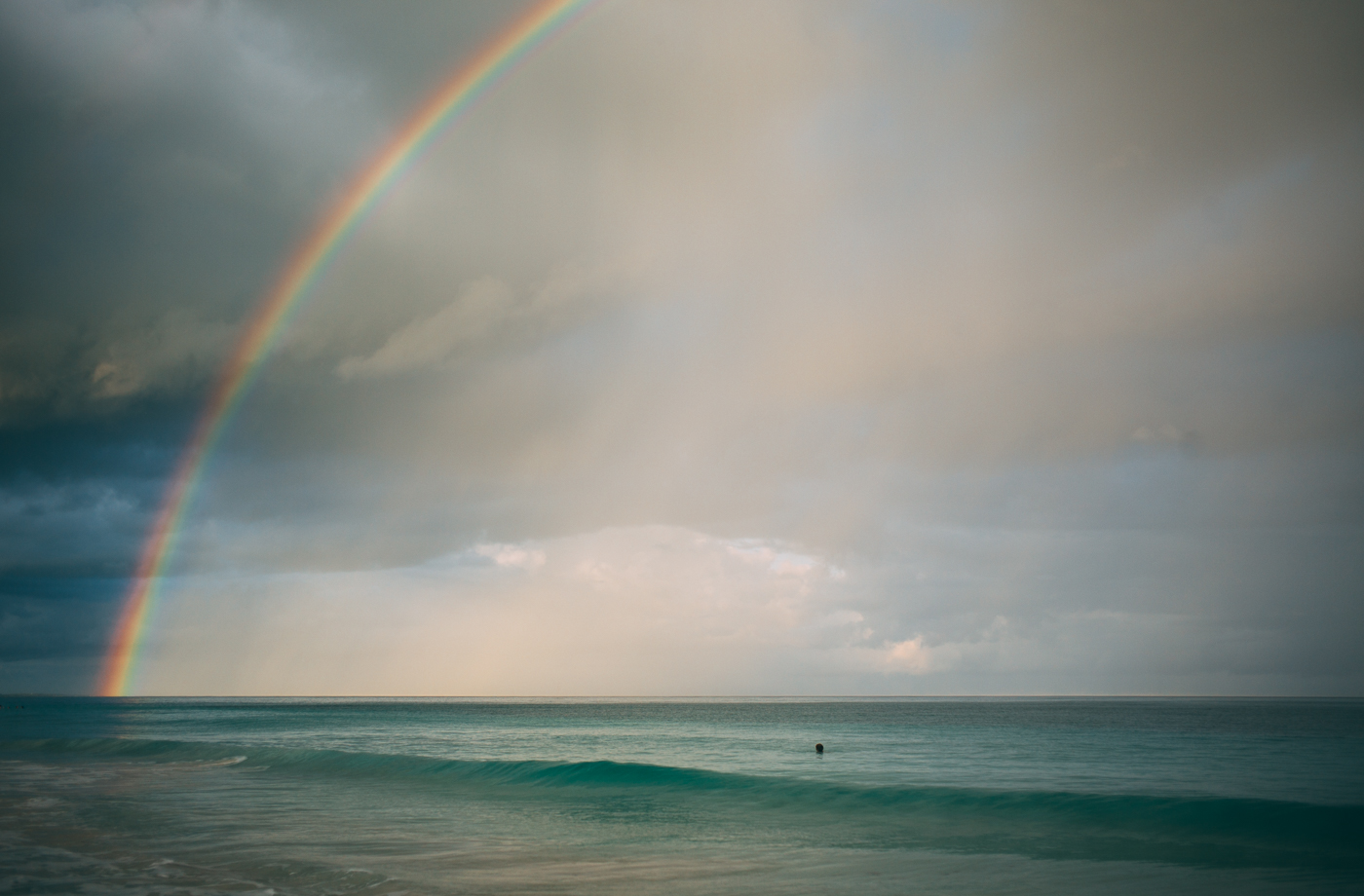 Swimming under the rainbow