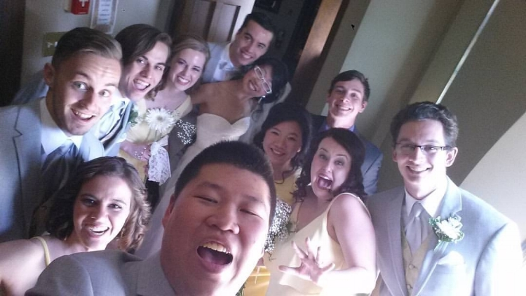The amazing wedding party! Photograph by IG: @samuel._.chung