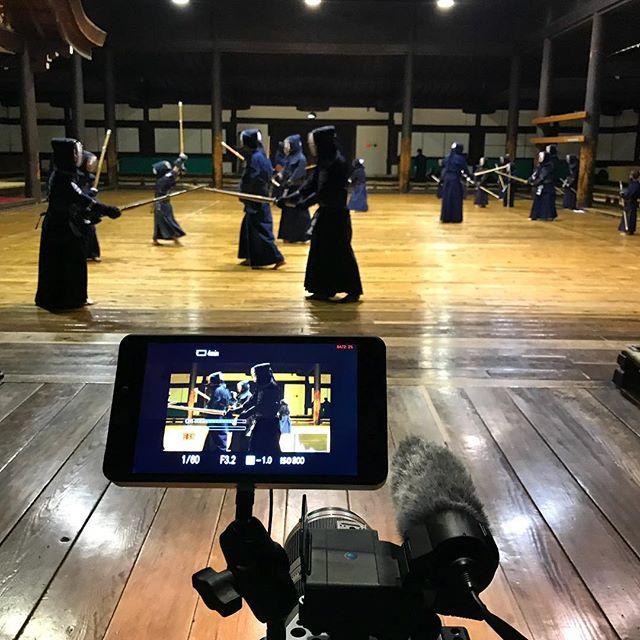Great time shooting this incredible pretty scene at a dojo in Kyoto. . #japan #documentary #ichikabachikafilm #film #dojo #kendo #budō #kyoto #tradition
