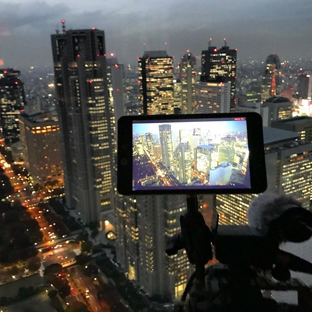 Got a great opportunity to shoot at @parkhyatttokyo. Many thanks for the invitation! 🎥🍸 . #documentary #tokyo #ichikabachikafilm #japan #film #parkhyatttokyo #shinjuku