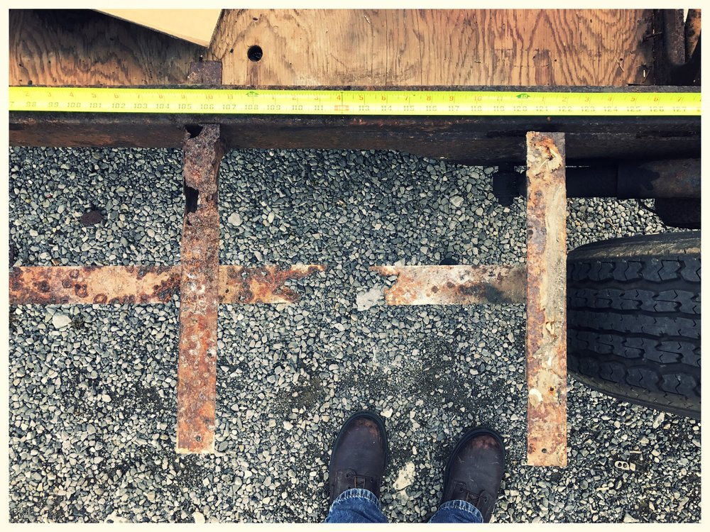 Rusted Airstream Frame
