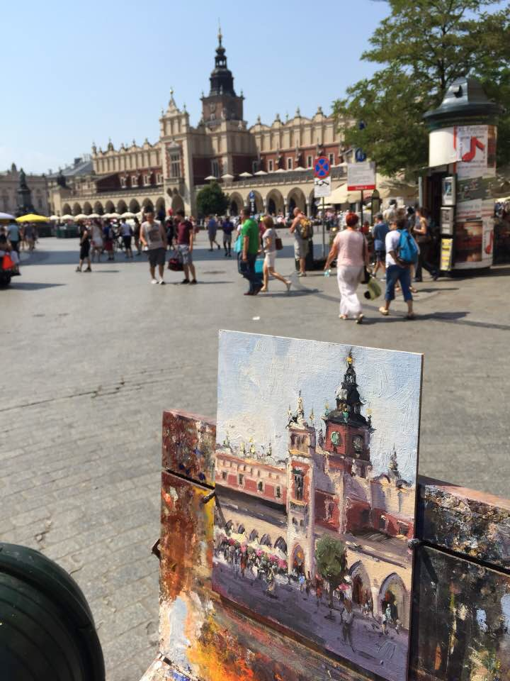 painting at the town square krakow, poland.jpg