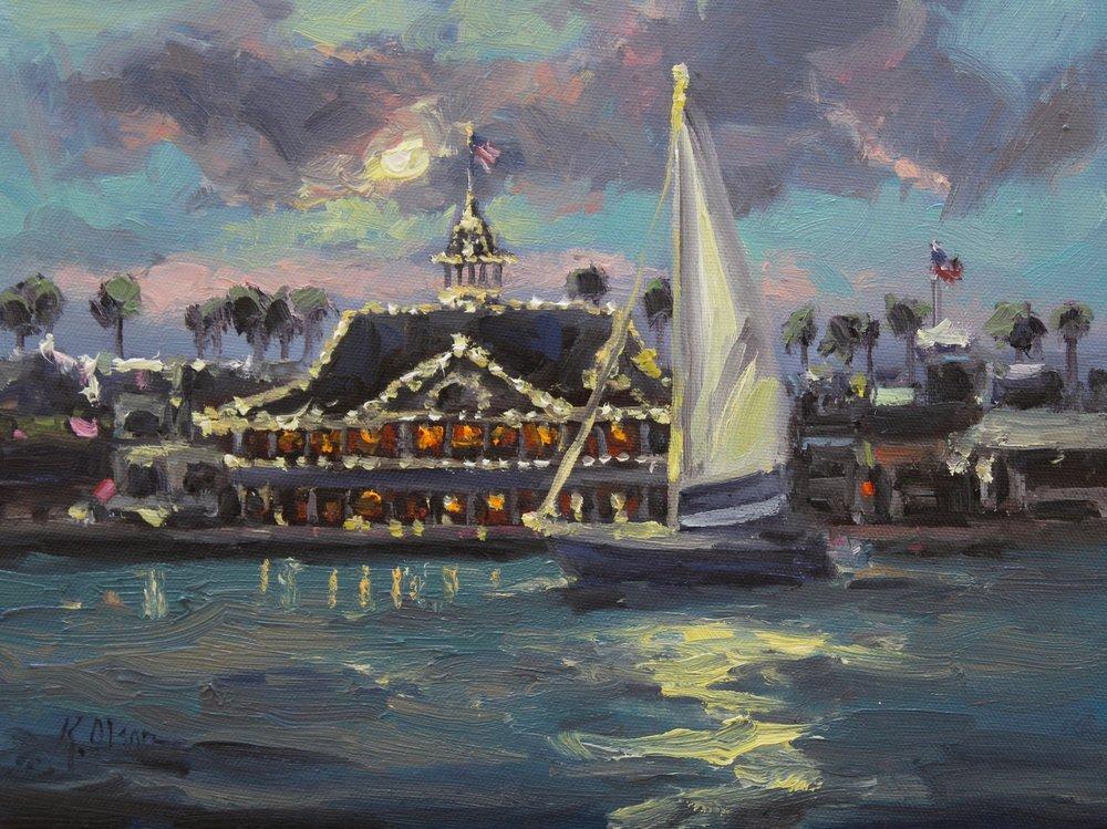 Moonlight, Newport Harbor
