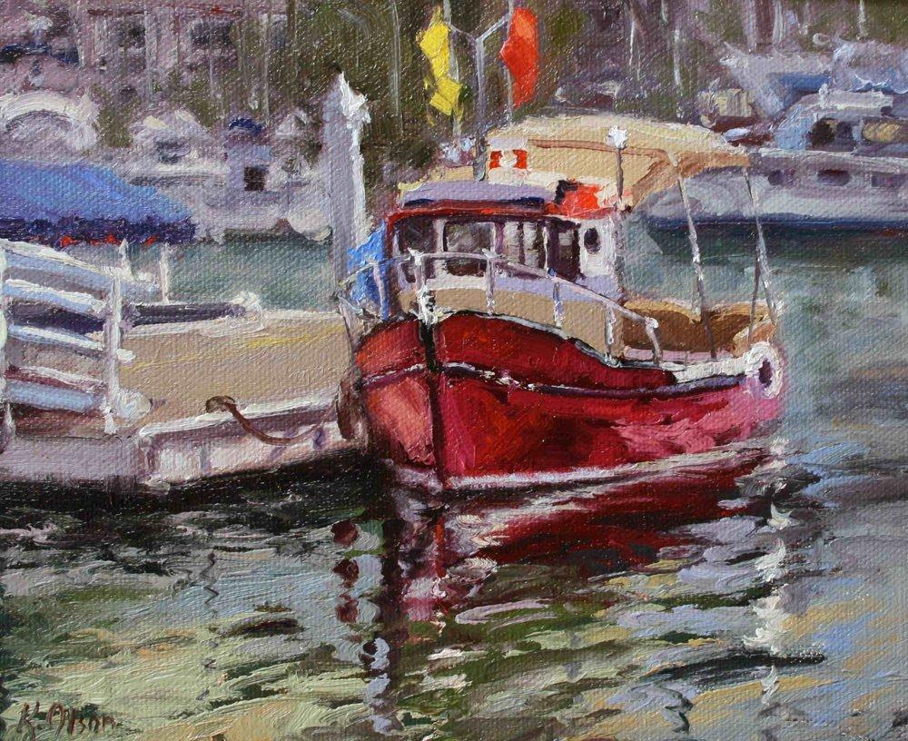 The Red Boat, Balboa Island, California