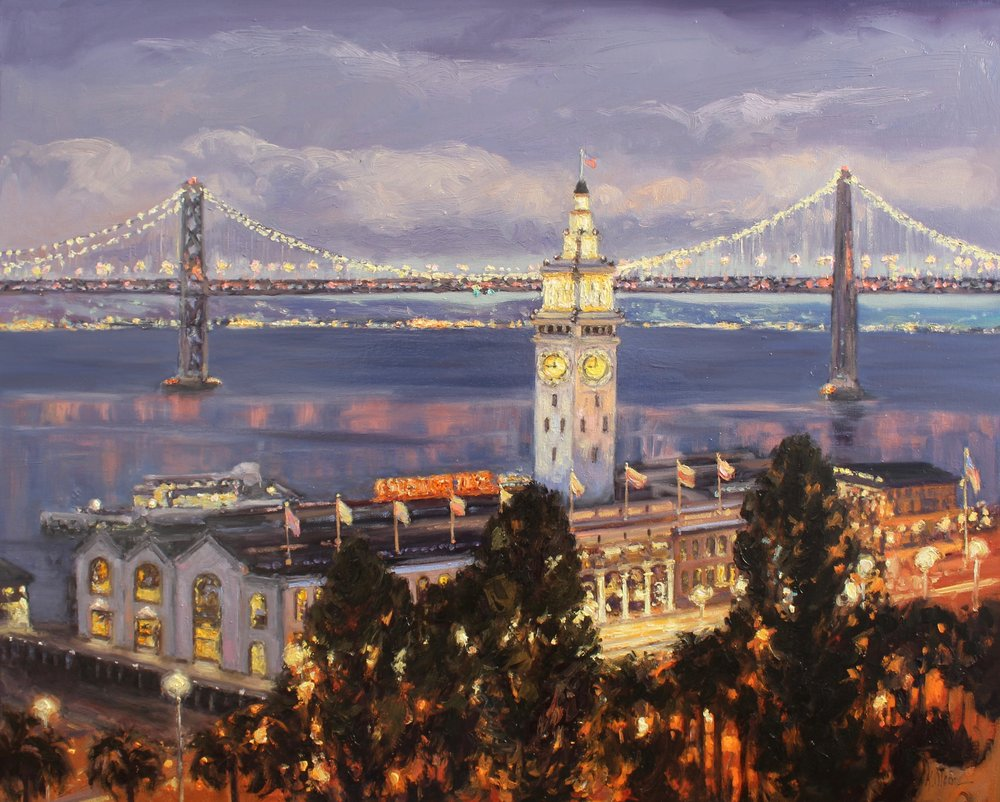 Evening On The Bay, The Ferry Building, San Francisco