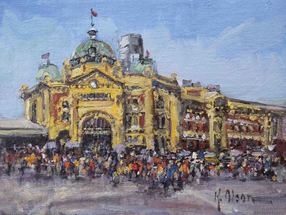Flinders Train Station, Melbourne, Australia